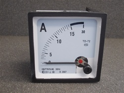0-15 AMP Analog Panel Ammeter (72mmx72mmx45mm)