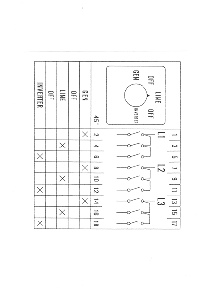 circuit diagram generator universal changeover switch manual    generator    3pdt center  universal changeover switch manual    generator    3pdt center
