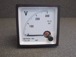0 TO 300V AC ANALOG PANEL VOLTMETER (72MMX72MMX45MM)