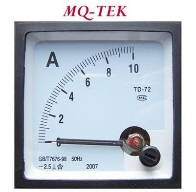 Dc Ammeter Panel Meter 72x72 Mm Battery Charging
